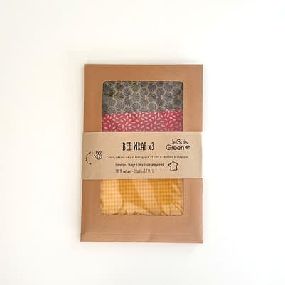Bee Wrap - pack 3 tailles - 3 coloris