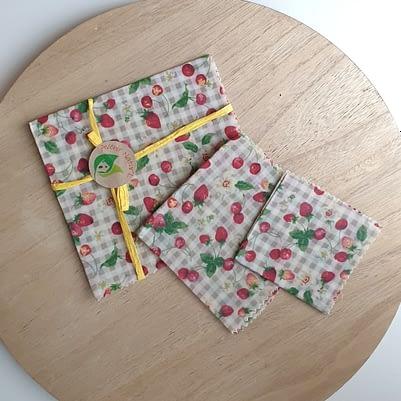 Bee Wrap - pack 3 tailles - Coloris au choix